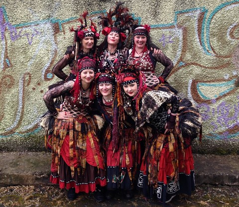 Gruop photo of the Urban Gypsies at New Mills